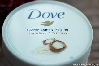 Review: Dove Creme-Dusch-Peeling mit Jojobawachsperlen - www.annistchkasblog.de