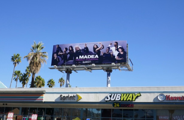 A Madea Family Funeral billboard
