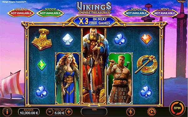 Main Gratis Slot Indonesia - Vikings Empires Treasures Playtech