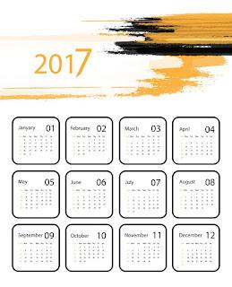 2017カレンダー無料テンプレート197