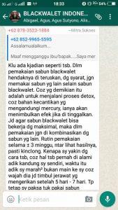 Testimoni Mengenai Reaksi Awal Pemakaian Sabun Blackwalet