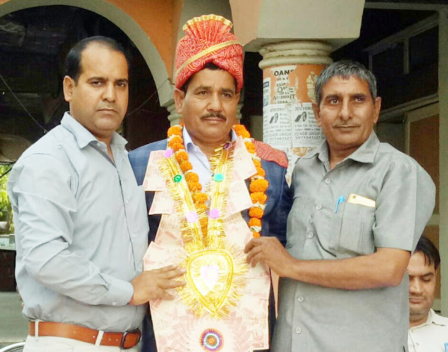 Foreman Balbir Singh Kataria's retired departing from departmental services