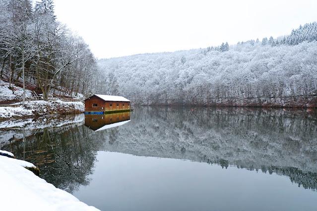 Belgian Ardennes Snow hiking Nisramont