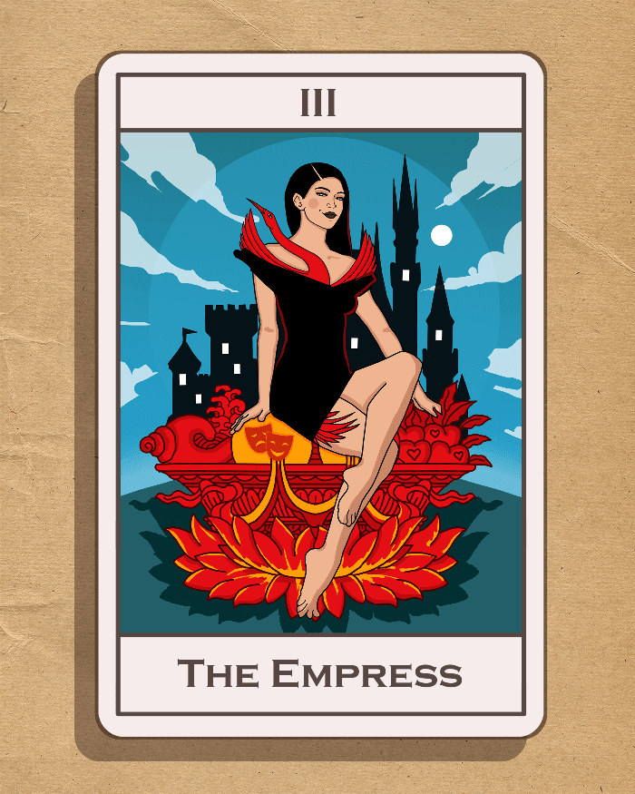 illustrator Olga Rukina. Tarot. The Empress.