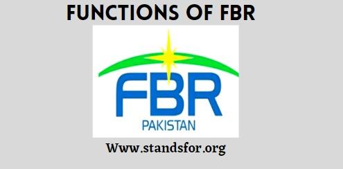 FBR- federal board of revenue