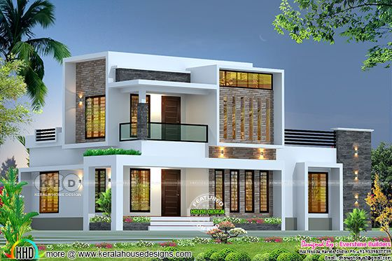 Box model modern 2200 square  feet house