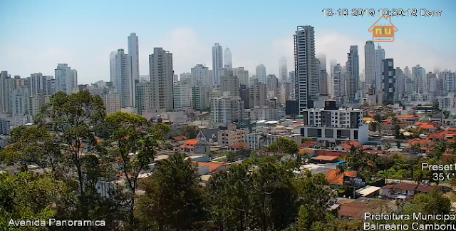Câmera ao vivo Av. Panorâmica Balneário Camboriú