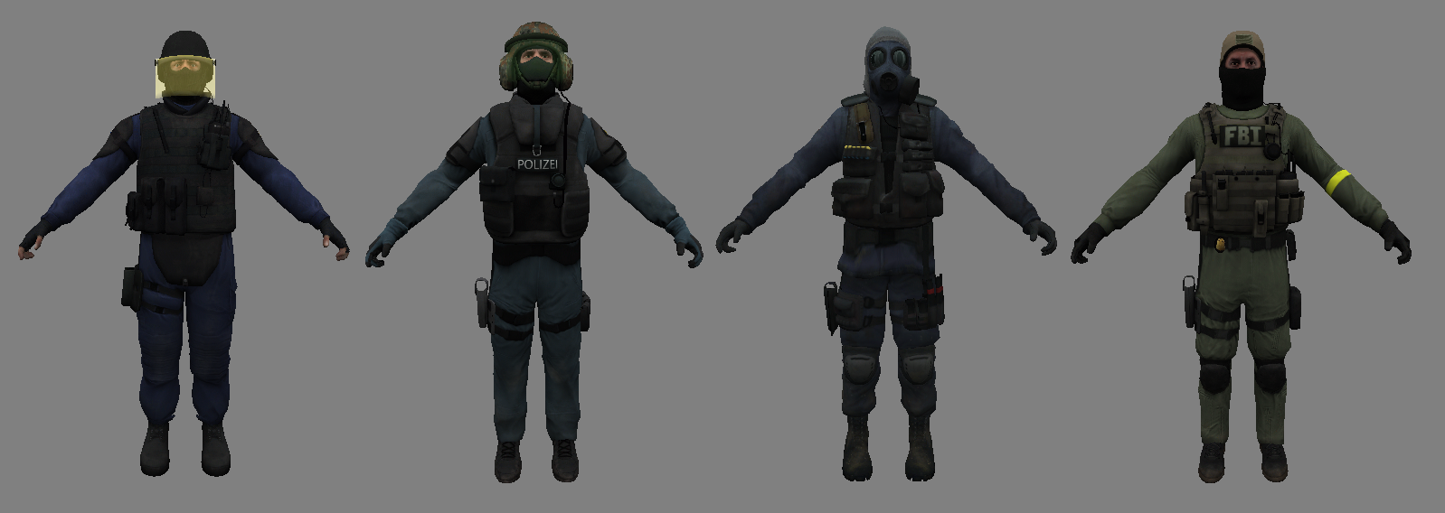 CSGO Character CT - Counter Strike Character Skin
