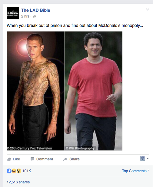 Wentworth Miller addresses fat-shaming internet meme with his own struggle against depression