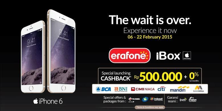 Beli iPhone 6 dan 6 Plus Gerai Erafone dan iBox - Bontang Media