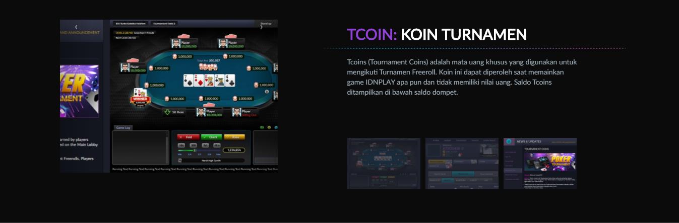 tcoin koin turnamen poker online