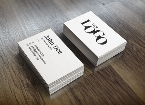Stacks of Business Cards Free PSD Mockup Template