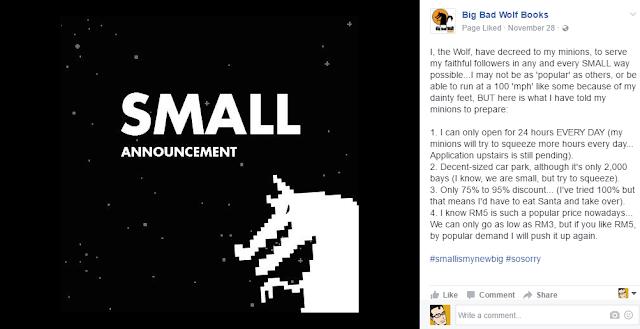 Small announcement + creative copywriting