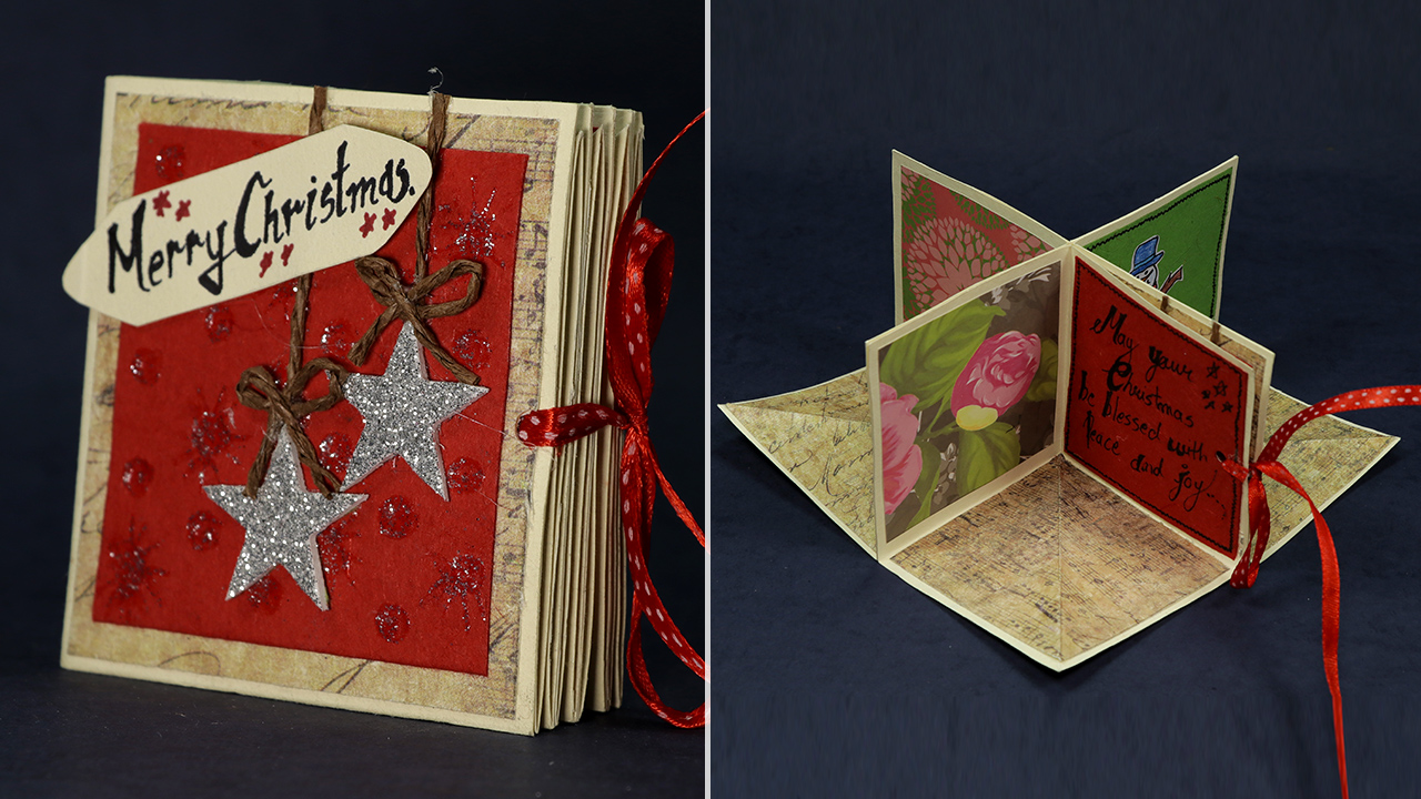 Diy Christmas Cards Tutorial Christmas Pop Up Card Making Artsy Fartsy
