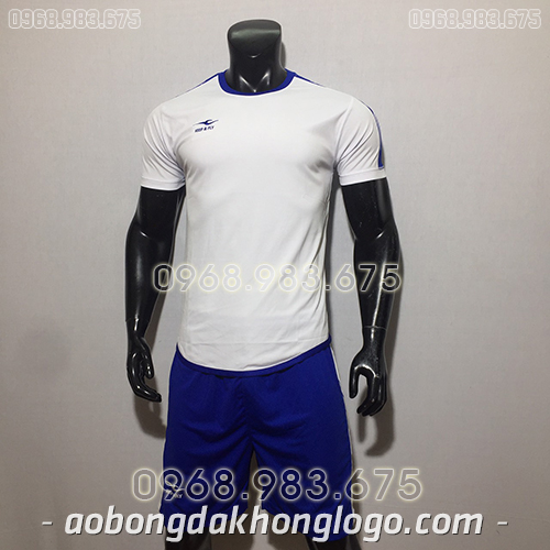 Áo bóng đá ko logo KeepFly Zuk màu trắng