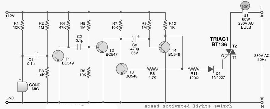 sound activated switch diagram