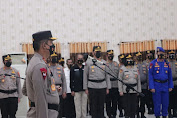 Kapolda Lampung Pimin Upacara Sertijab Tiga PJU dan Tiga Kapolres