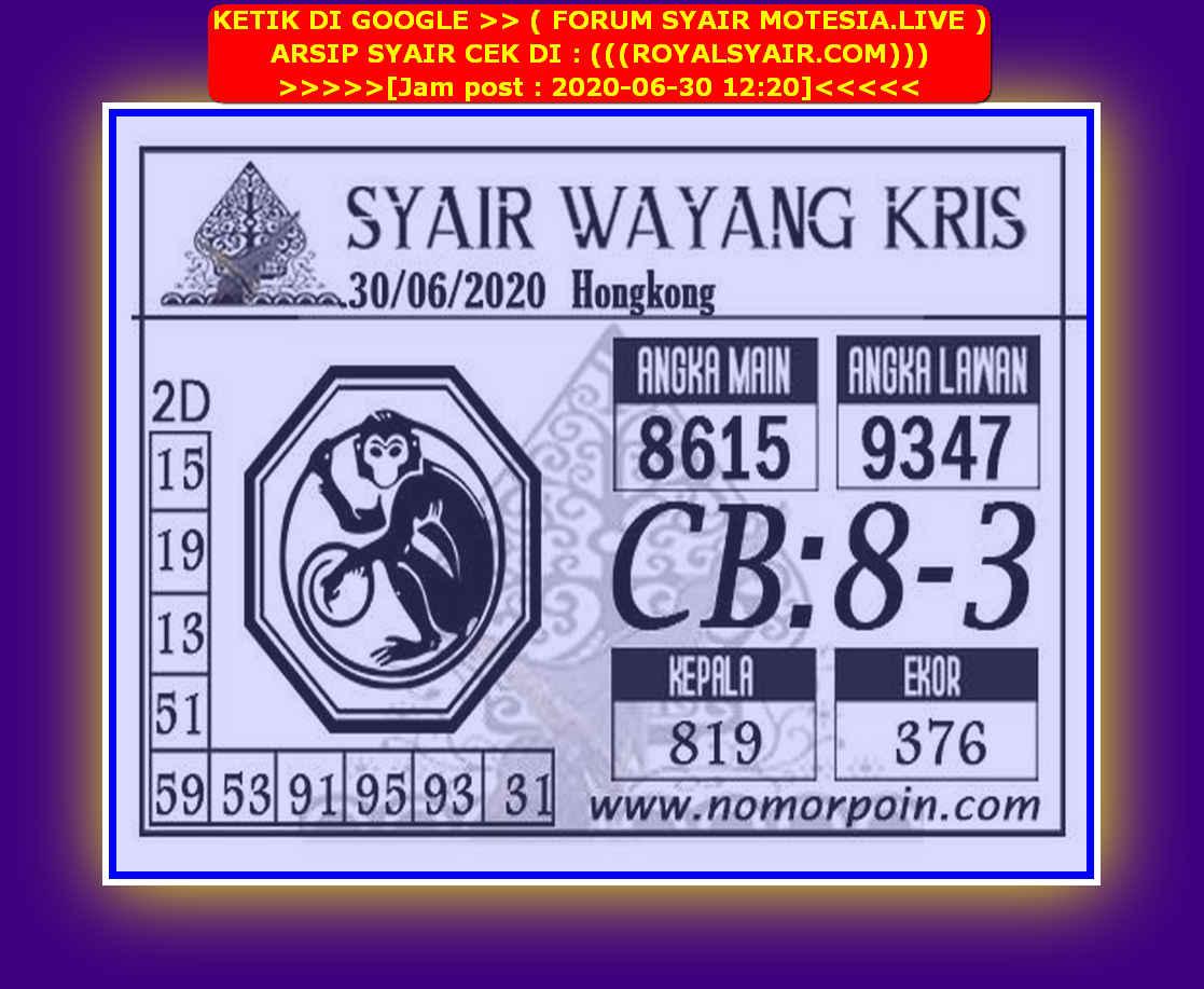 Kode syair Hongkong Selasa 30 Juni 2020 152