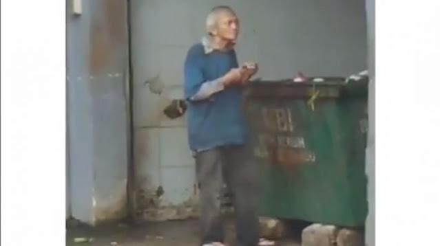 Kisah Kakek Makan Sampah, Netizen: Biasanya Kita Merasa Orang Paling Susah