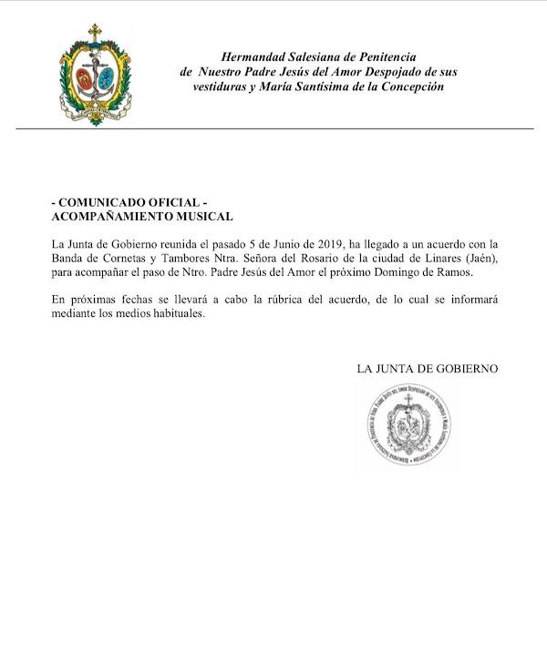 Rosario de Linares con el Despojado de Cádiz en el 2020