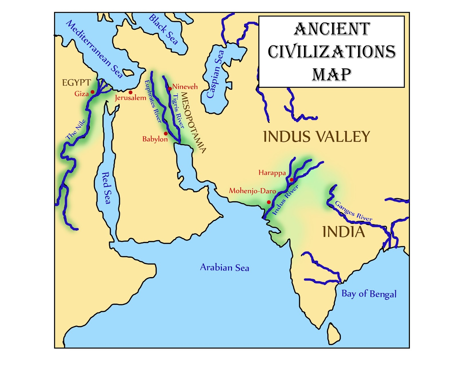B Blank Map Of Ancient India