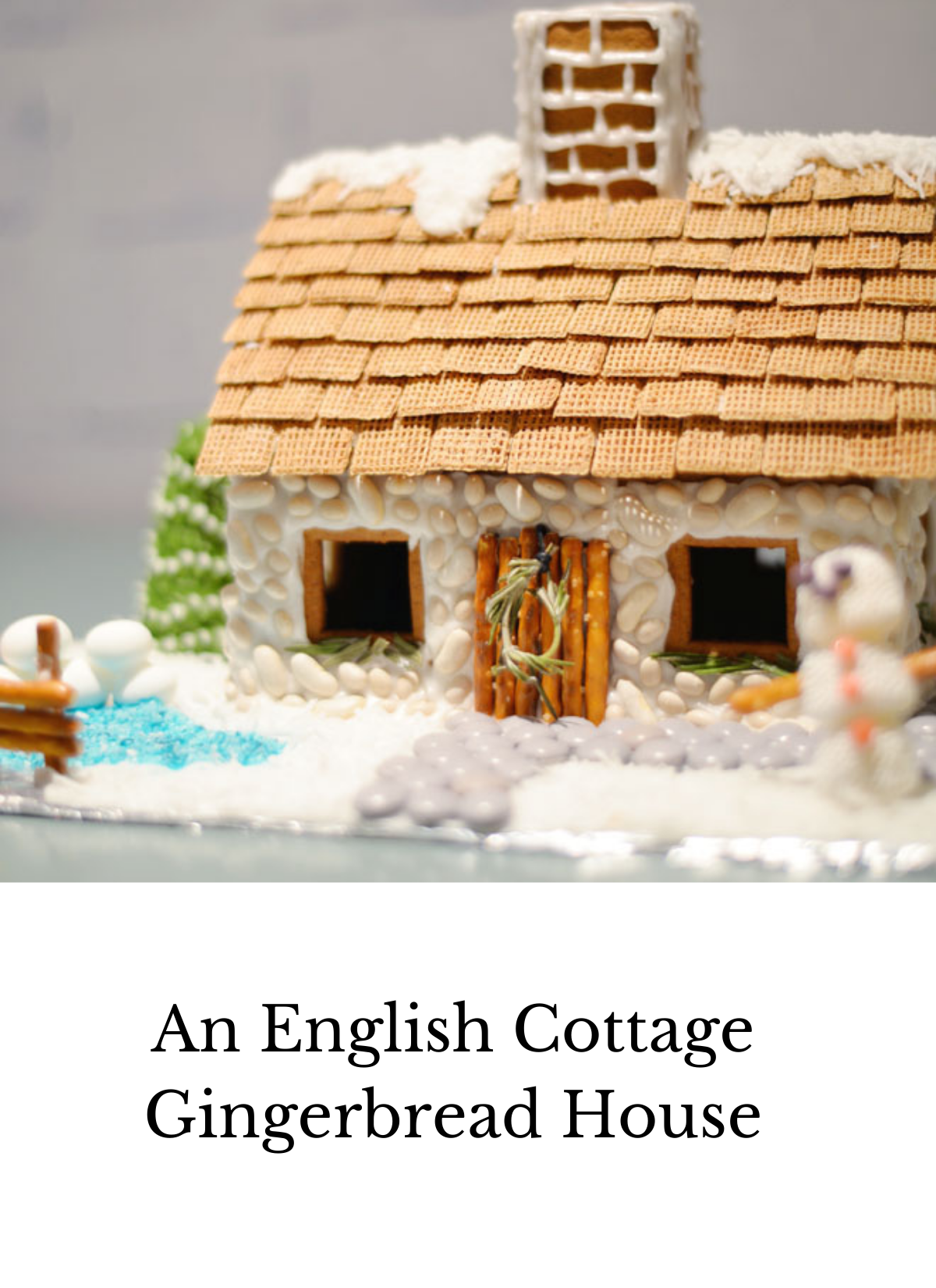 English cottage gingerbread house