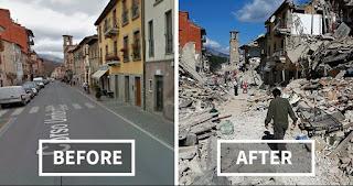 Devastación total en sicilia italia ,  por sismo volcánico.