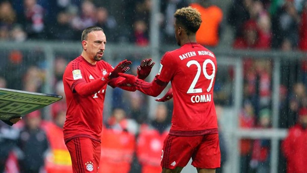 Ribery không sợ phải cạnh tranh vị trí chính thức với đàn em( Coman 29)