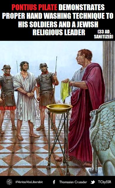 Pilate Demonstrate Hand Washing