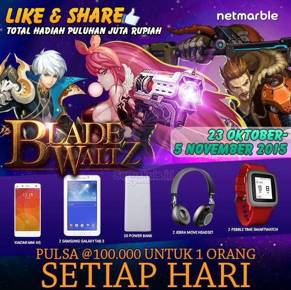 Kuis Blade Waltz Berhadiah Xiaomi Mi4 4G