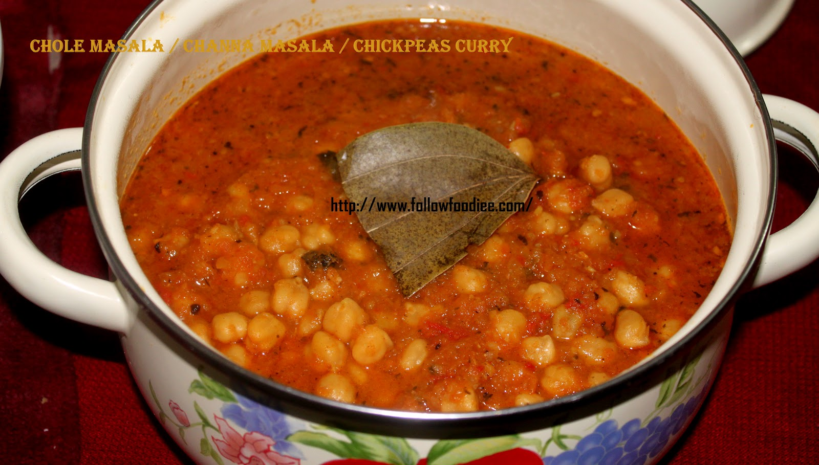 Chickpea cooked with fragrent spices to make this masala