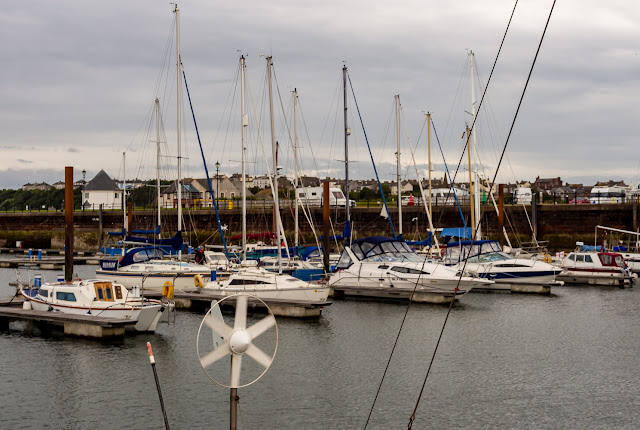 Photo of cloudy weather at Maryport Marina today (Friday)