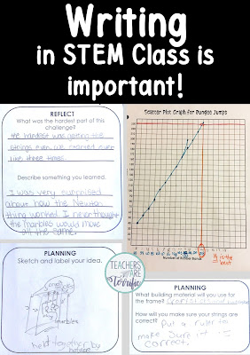 STEM Challenges are about more than just building things! We write in STEM Class!