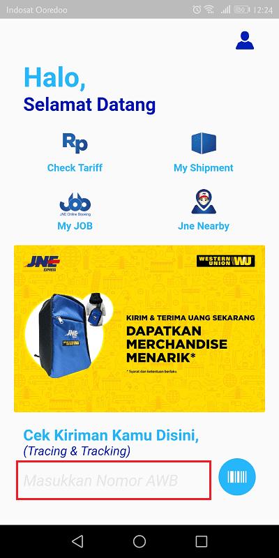 cara menggunakan my jne untuk cek nomor resi jne