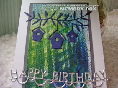 happy birthday card front background spray mists