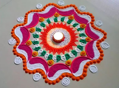 HAND MADE RANGOLI DESIGN