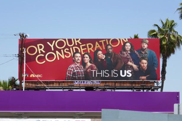This Is Us season 3 Emmy FYC billboard