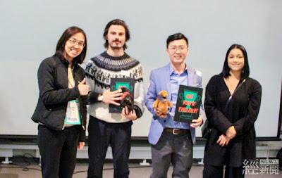 中小企業處副處長胡貝蒂(左一)與台灣、芬蘭優秀新創團隊