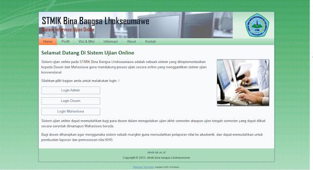 Aplikasi Ujian Online Berbasis Web Gratis Dengan PHP