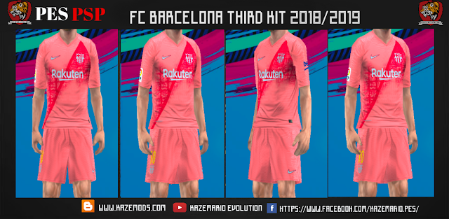reputable site feaf6 0b2ec FC Barcelona Third Kit 2018/19 PES PSP (PPSSPP)