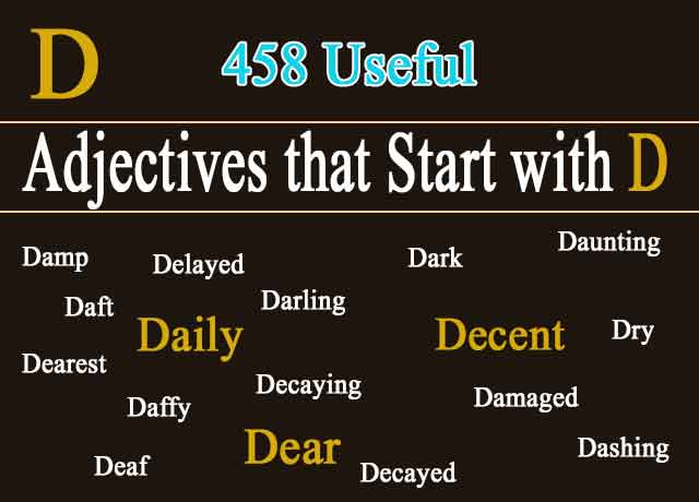 458 Adjectives that Start with D | Describe Essential Words