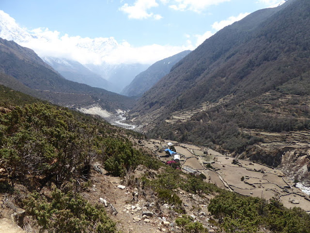 panorama sulla valle di thame