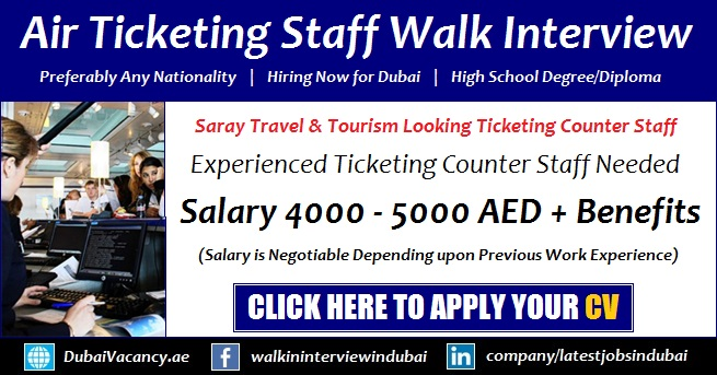 Ticketing Staff Jobs in Dubai