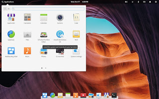 Elementary OS application menu
