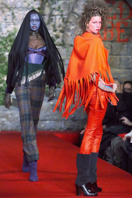 Ivanka Trump (R) models during the showing of the Vivienne Westwood 1999 Fall/Winter collection at Bryant Park in New York 16 February. (Timothy A. Clary/AFP/Getty Images)