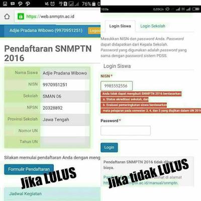 Cara Mengetahui Lolos dan diterima SNMPTN 2017, Cara Mengetahui Lolos Seleksi 1 SNMPTN 2017, Cara Melihat Lolos atau tidak SNMPTN 2017, Cara Mengetahui Diterima SNMPTN.