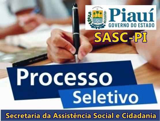 inscrições do processo seletivo Sasc 2017