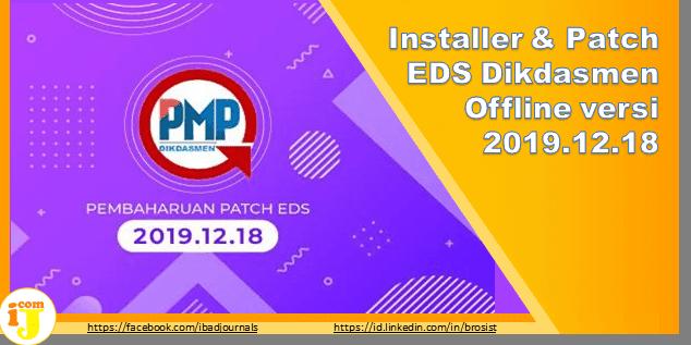 Installer & Patch EDS Dikdasmen Offline versi 2019.12.18