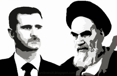 Bashar Assad and Khomeini