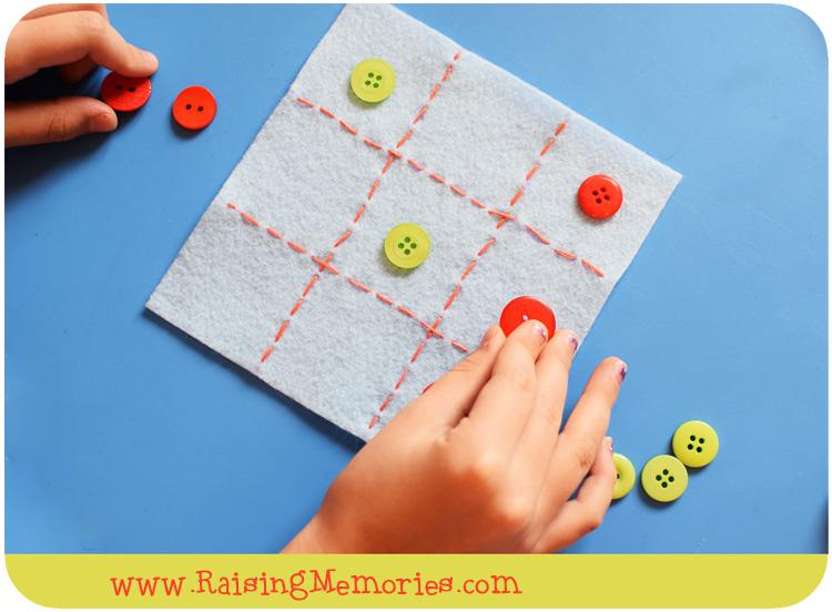 DIY Tic Tac Toe Board Game